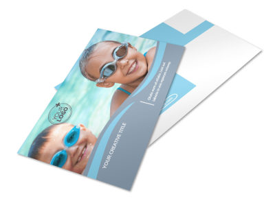 Kids Pool Party Postcard Template 2 preview