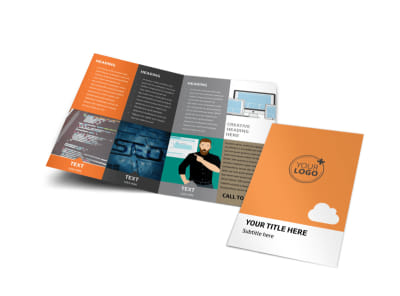 Web Design & SEO Bi-Fold Brochure Template preview