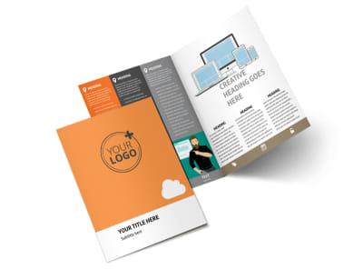 Web Design & SEO Bi-Fold Brochure Template 2