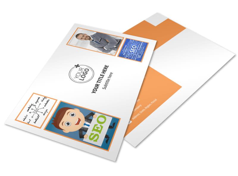 Web Design & SEO Postcard Template