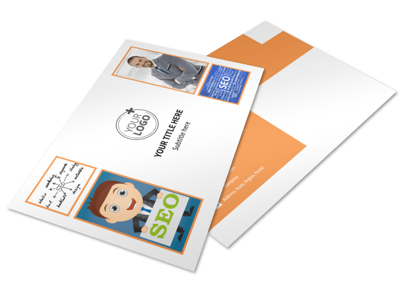 Web Design & SEO Postcard Template Preview 1