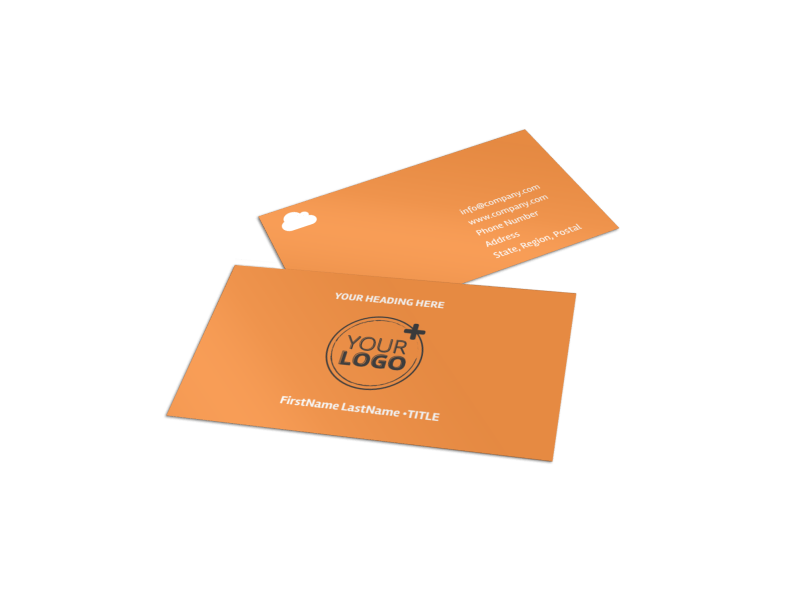 Web Design & SEO Business Card Template Preview 1