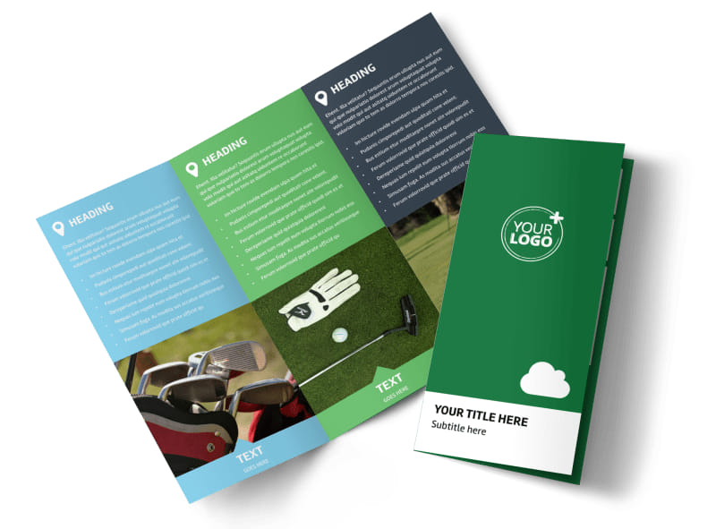 Golf Membership Tri-Fold Brochure Template
