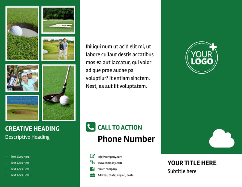 Golf Membership Brochure Template Preview 2