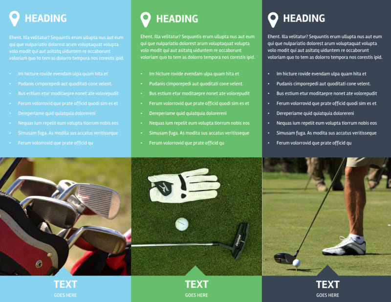 Golf Membership Brochure Template Preview 3