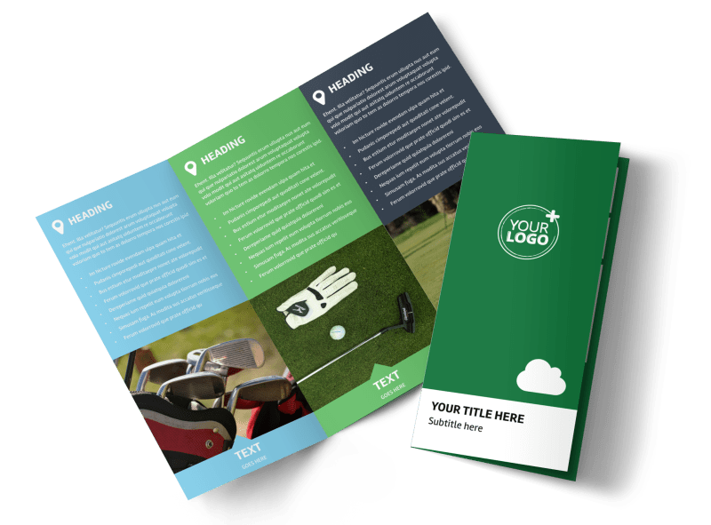 Golf Membership Brochure Template Preview 1