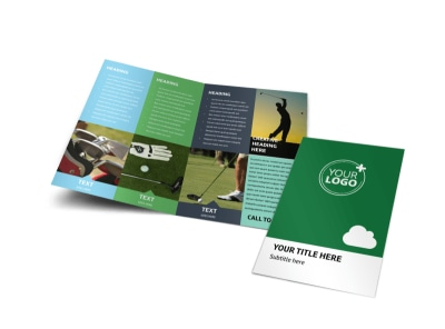 Golf Membership Bi-Fold Brochure Template