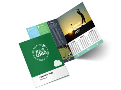 Golf Membership Bi-Fold Brochure Template 2