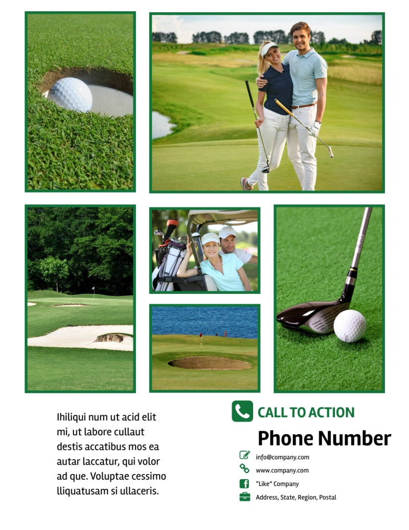 Golf Membership Flyer Template Preview 3