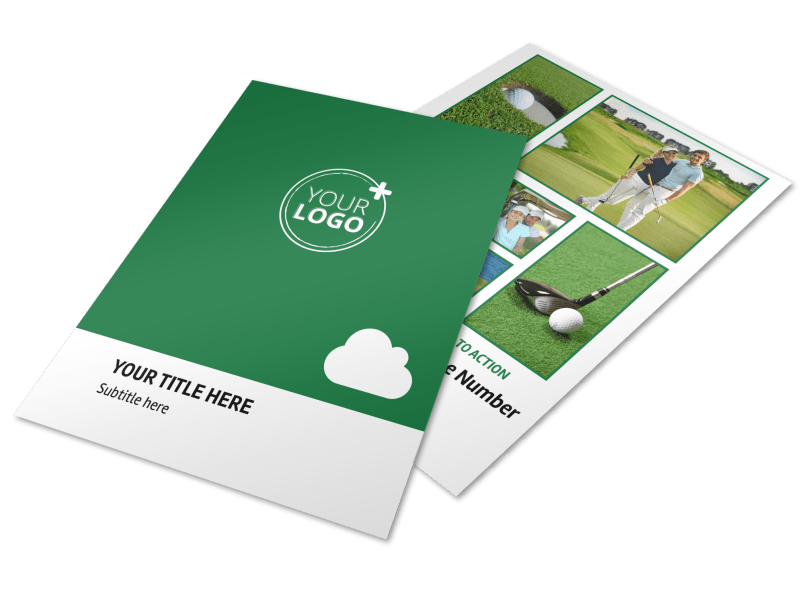 Golf Membership Flyer Template Preview 1