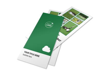 Golf Membership Flyer Template 2
