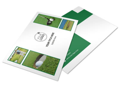 Golf Membership Postcard Template