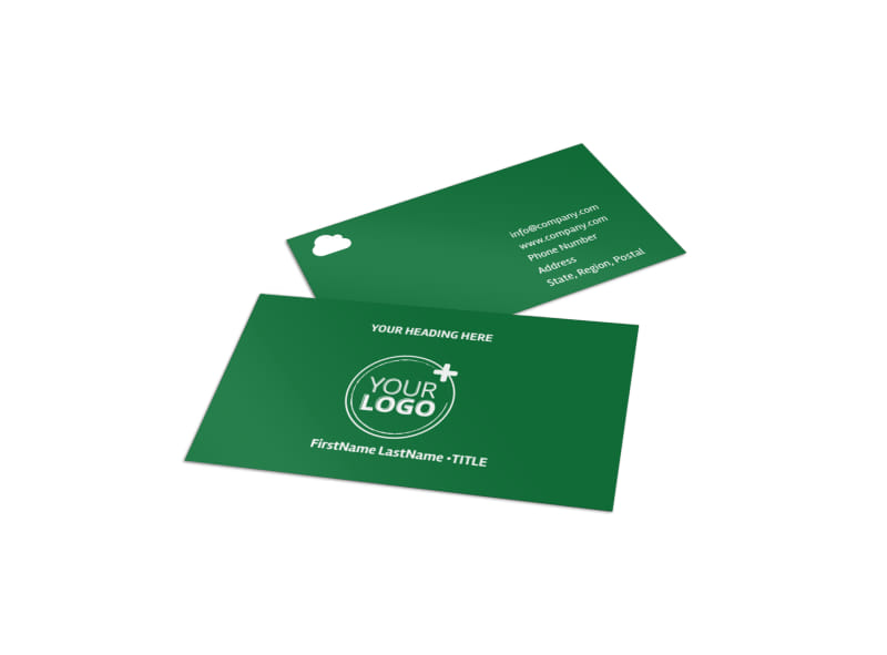 Golf Membership Business Card Template