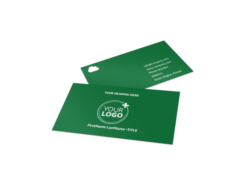 Golf Membership Business Card Template Preview 1