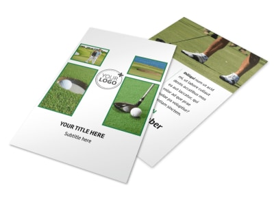Golf Membership Flyer Template 3