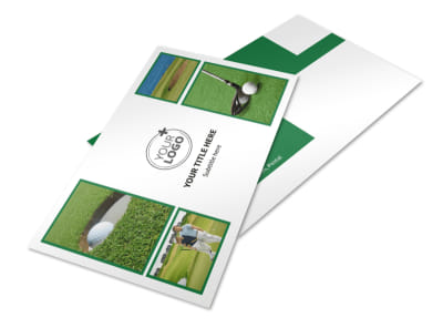 Golf Membership Postcard Template 2