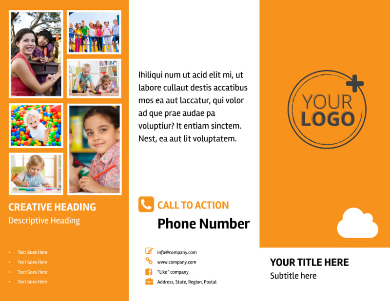Daycare Options Brochure Template Preview 2