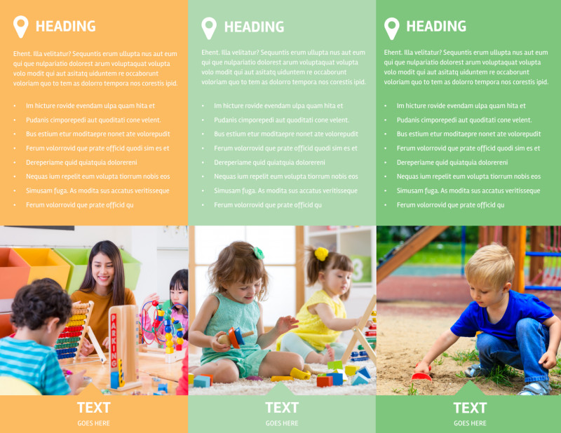 Daycare Options Brochure Template Preview 3