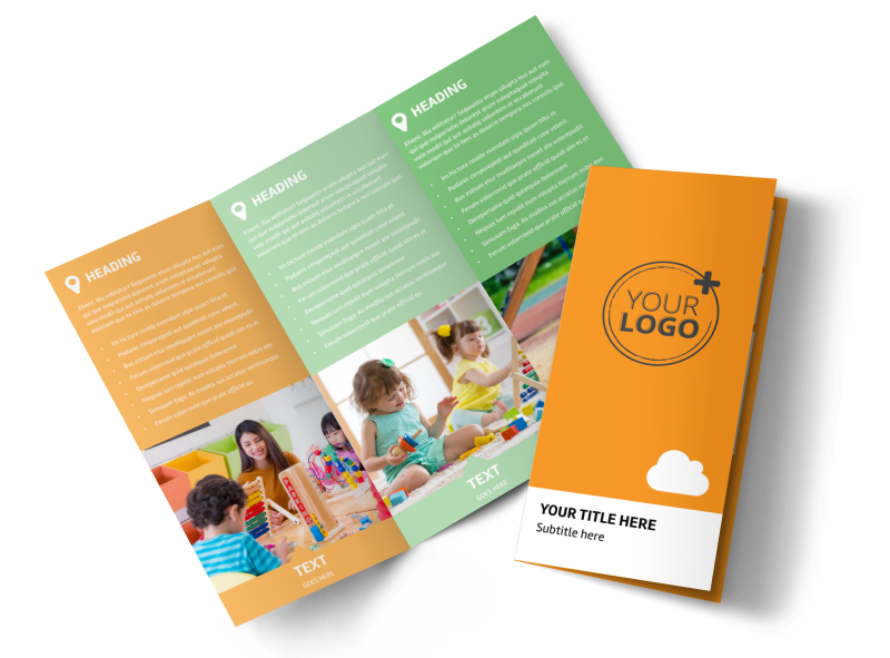Daycare Options Brochure Template Preview 1