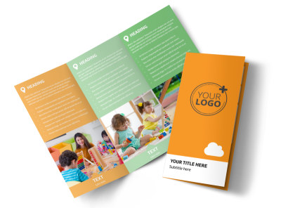Daycare Options Tri-Fold Brochure Template preview