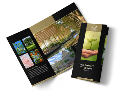 Tree Service Tri Fold Brochure Template preview