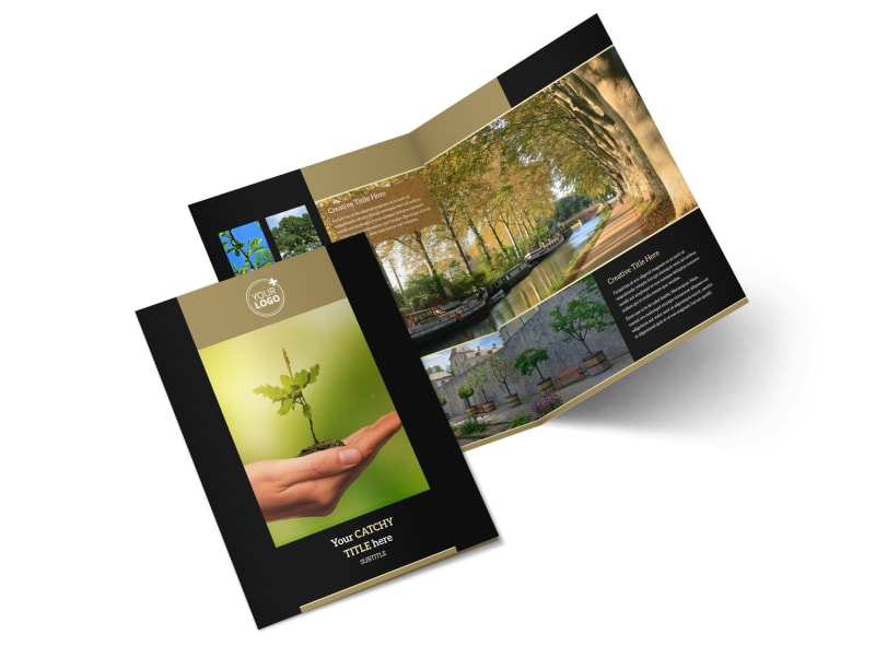 Tree Service Bi-Fold Brochure Template 2