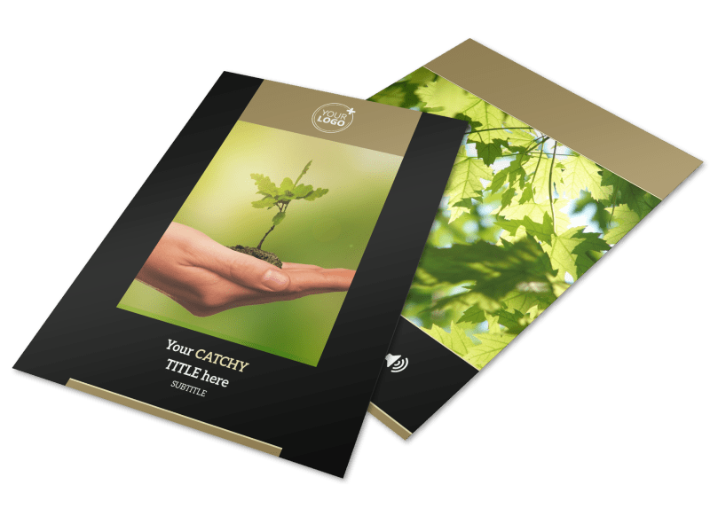 Tree Transplanting Service Flyer Template Preview 1