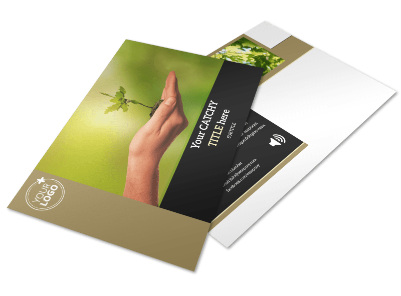 Tree Transplanting Service Postcard Template Preview 1
