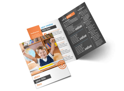 Academic Tutor & School Bi-Fold Brochure Template 2