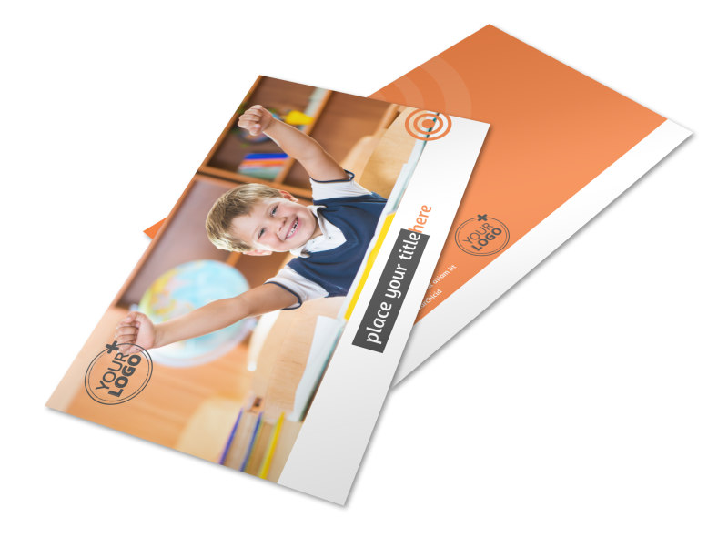 Academic Tutor & School Postcard Template