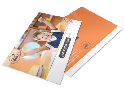 Academic Tutor & School Postcard Template preview
