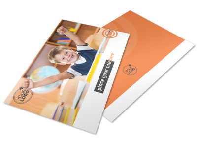 Academic Tutor & School Postcard Template 2 preview