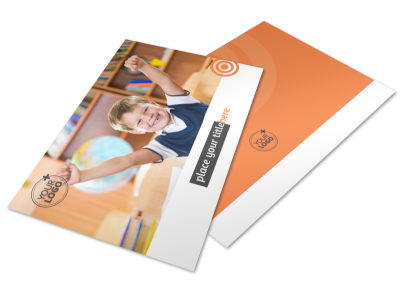 Academic Tutor & School Postcard Template 2