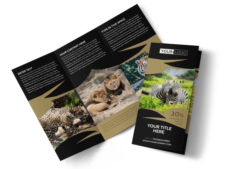 african safari brochure template mycreativeshop