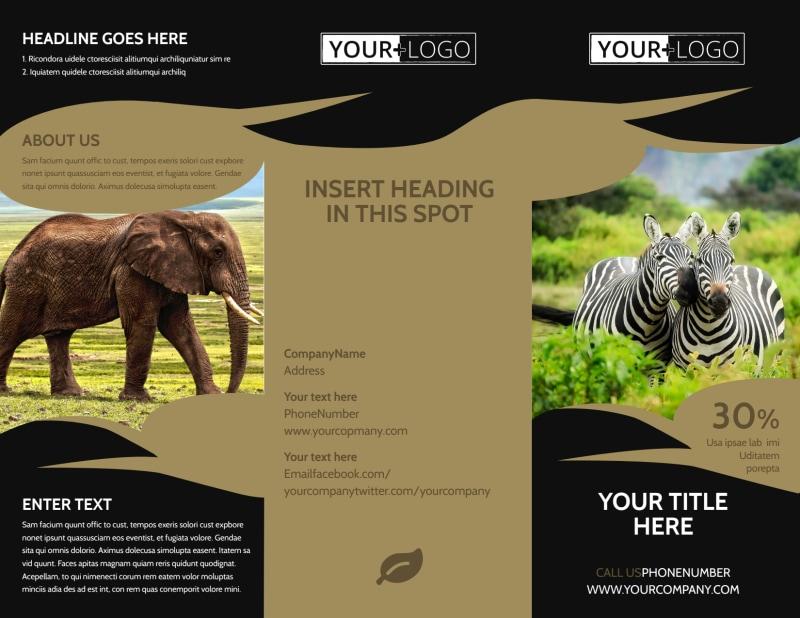 African Safari Brochure Template Preview 2