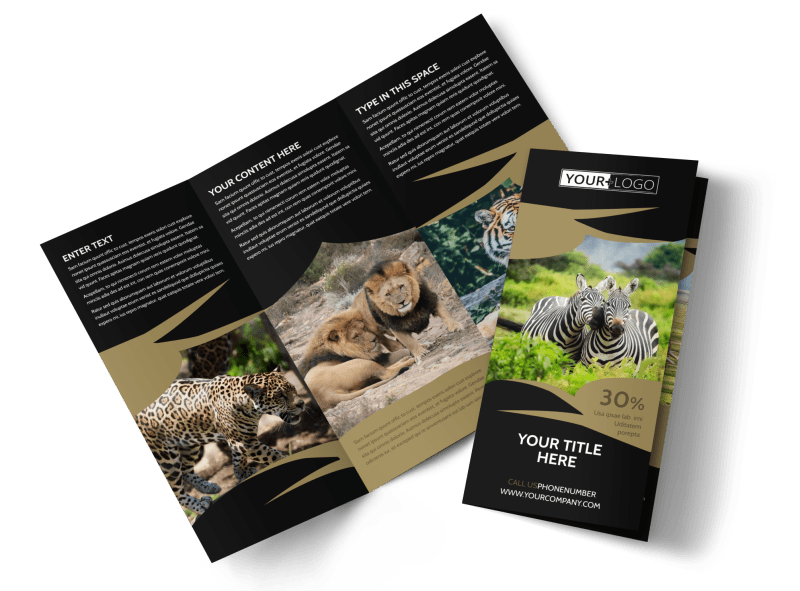 African Safari Brochure Template Preview 1