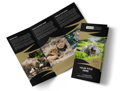 African Safari Tri-Fold Brochure Template preview