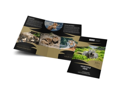 African Safari Bi-Fold Brochure Template preview