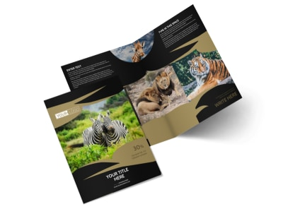 African Safari Brochure Template 2