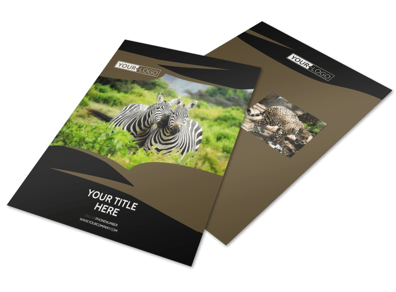 African Safari Flyer Template Preview 1