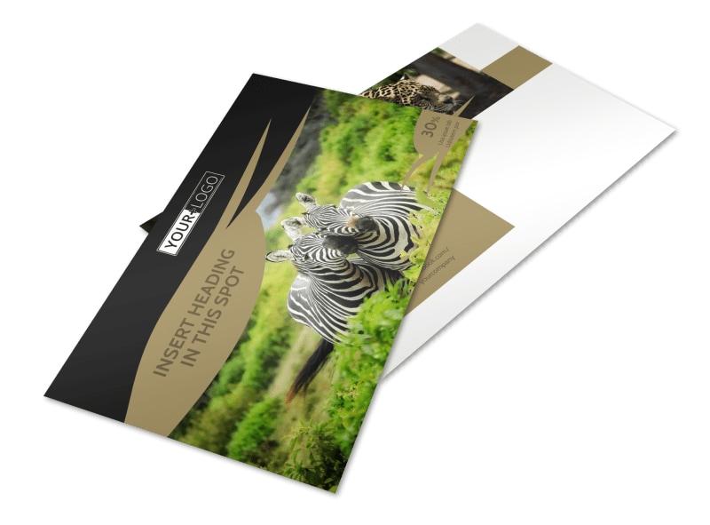 African Safari Postcard Template