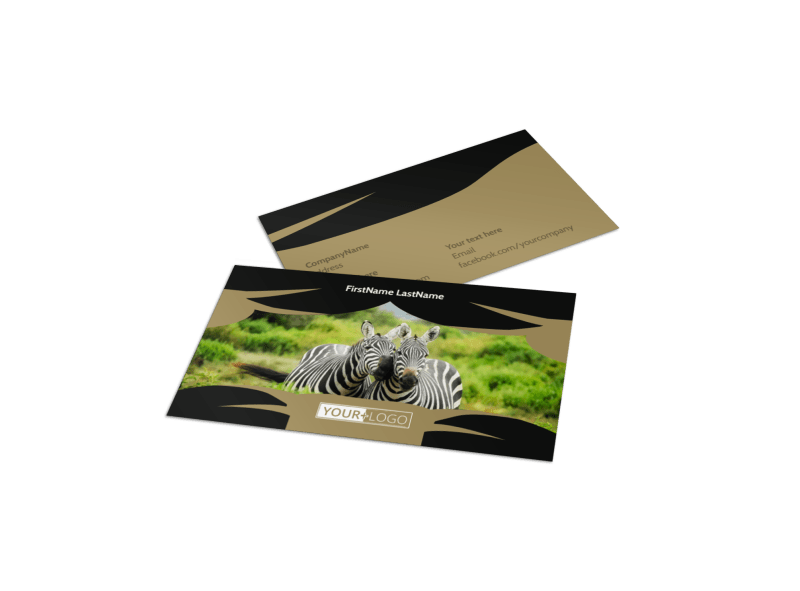 African Safari Business Card Template Preview 1