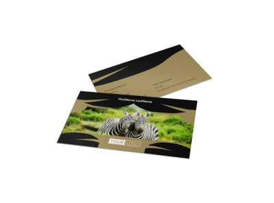 African Safari Business Card Template