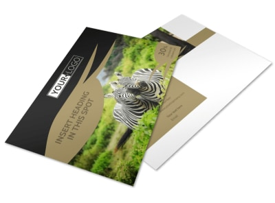 African Safari Postcard Template 2