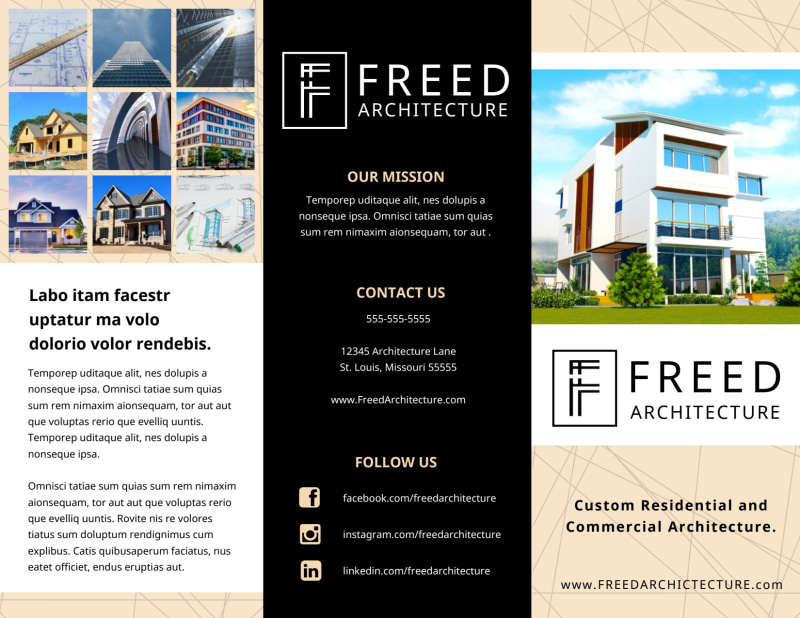 Architectural Firm Brochure Template Preview 2