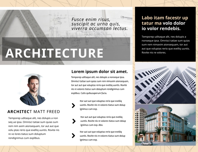 Architectural Firm Brochure Template Preview 3