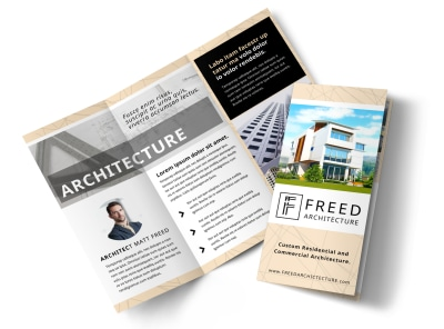 Architect Tri-Fold Brochure Template preview