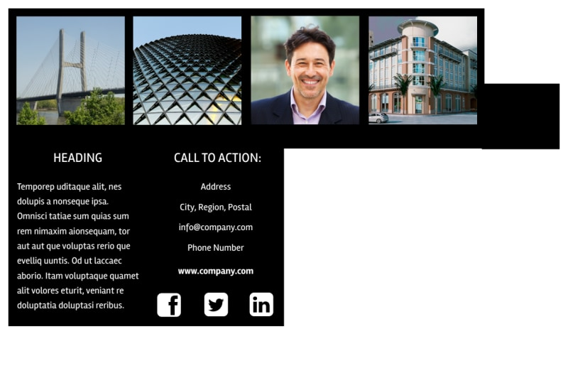 Architectural Firm Postcard Template Preview 3