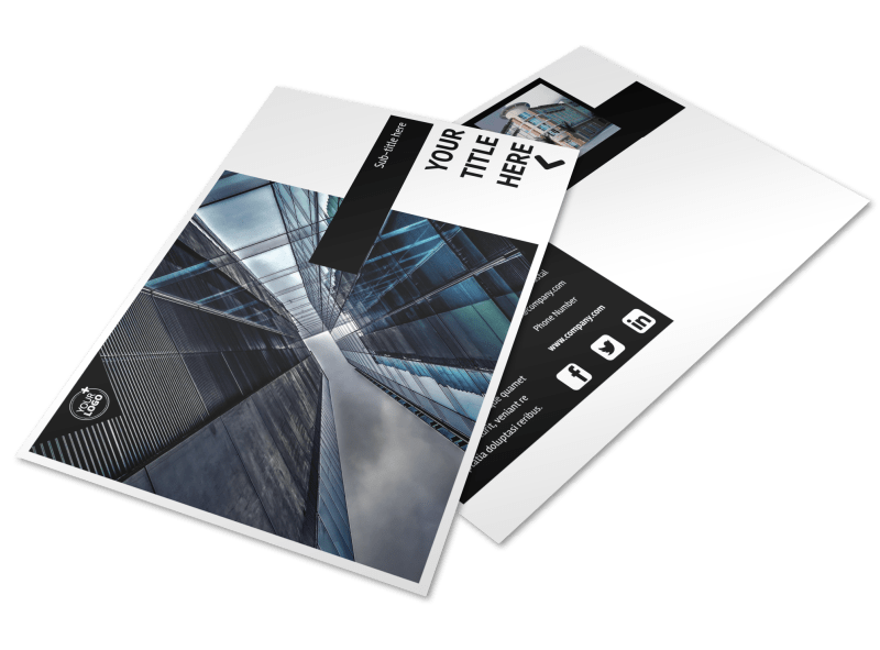 Architectural Firm Postcard Template Preview 1