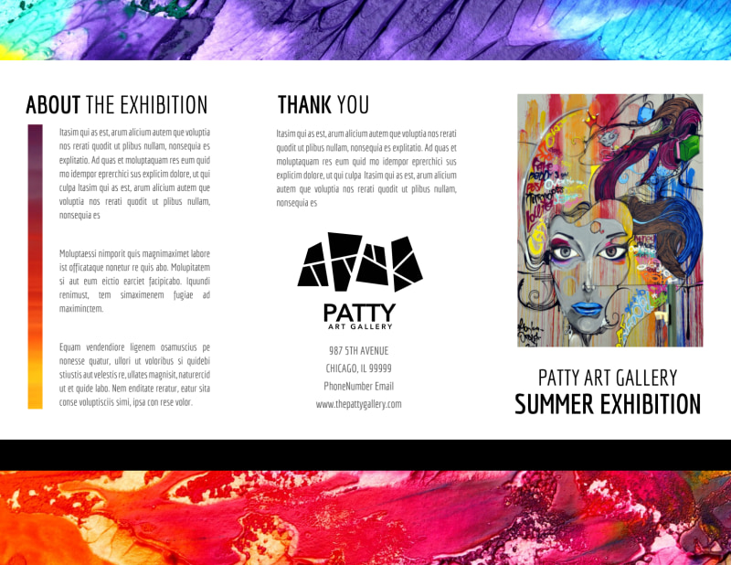 Art Gallery Brochure Template Preview 2